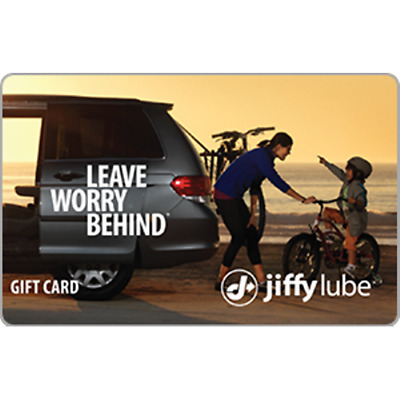 Jiffy Lube Gift Card $100 Value, Only $70.00! Free Shipping!