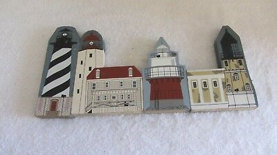 CATS MEOW Collectible Lighthouse Series  Set of 4 Signed 1990 and 1996