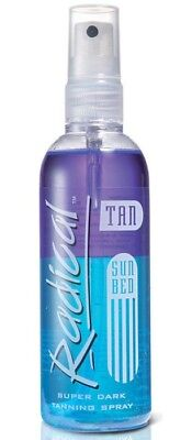 Radical SUPER DARK Tanning Spray oil- Sunbed Lotion 165ml bottle