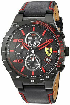 Ferrari Men's 830363 Speciale Evo Chronograph 46mm Black Steel Watch 830363