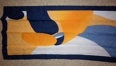 Vintage Bright Groovy Print Long Scarf Excellent Condition