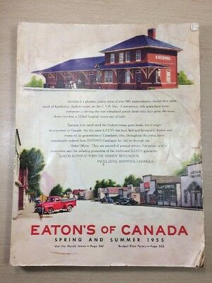 Eaton's CATALOG - Spring Summer Moncton Canada 1955 Guitars Bicycle Rifles VTG