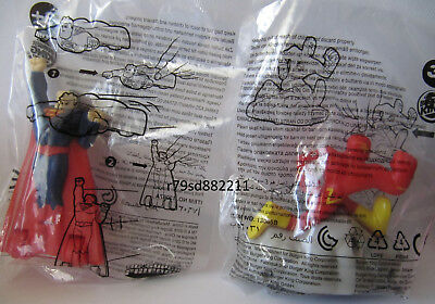 2 Spielzeug-Figuren Superman & Flash Burger King DC Super Friends NEU & OVP