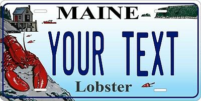 Maine Lobster License Plate Personalized Custom Car Bike Motorcycle Moped Tag