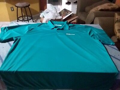 d4693ac8e MIAMI DOLPHINS NIKE Dri Fit Team Issued Polo Shirt Size 4Xl Nfl ...