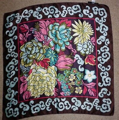 Vintage Sportsgirl Floral Print  Scarf Good Condition