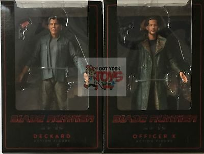 "DECKARD & OFFICER K Blade Runner 2049 SET of 2 NECA 2017 7"" INCH Action FIGURES"