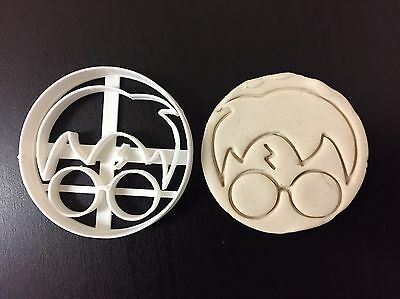 Harry Potter round face Plastic Cookie Cutter Topper Fondant uk seller