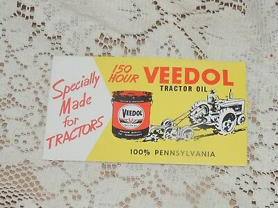 Vintage  Advertising  Ink  Blotter  Veedol Motor Oil  Unused