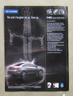 HYUNDAI i45 2.4 2011 Luxury Sedan Auto Car Magazine Page Sales Ad Advertisement