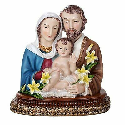 """10"""" Tall Holy Family Of Joseph Mary and Baby Jesus Resin Hand Painted Figurine"""