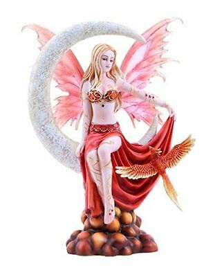 "Fire Crescent Moon Elemental Fairy 10.25"" Tall Collection By Nene Thomas"