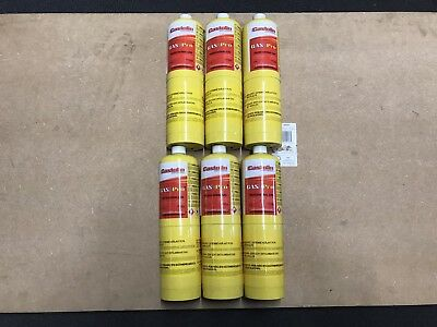 6 X Mapp Map Pro Plus Gas Disposable Bottle Plumbers Burner Cylinder 450G Yellow