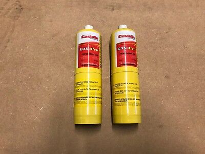 2 X Mapp Map Pro Plus Gas Disposable Bottle Plumbers Burner Cylinder 450G Yellow