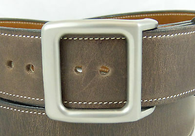 "BURCH BOX 1-1/2"" Solid Titanium Belt Buckle with Sand Blast Finish (Buckle Only)"