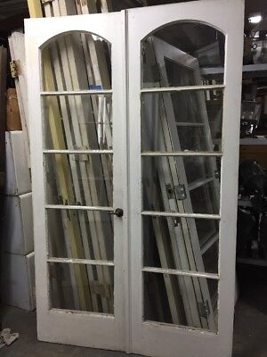 "French Doors With Arched Glass  80"" X 24 Ea 48"" Open"