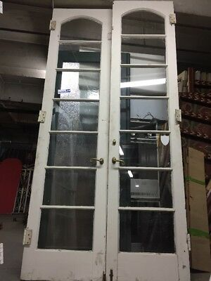 """Old French Doors With Arched Glass 88 1/2 X 24 Ea 48"""" Open"""