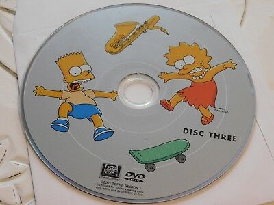 The Simpsons First Season 1 Disc 3 DVD Disc Only 44-35