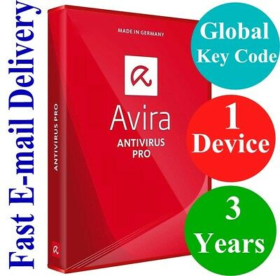 Avira Antivirus Pro 1 Device / 3 Years (Unique Global Key Code) 2019