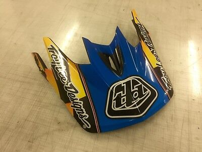Troy Lee Designs D3 Finish Line Replacement Visor Yellow/Blue