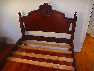 American Solid Wallnut  Double Bed c1850