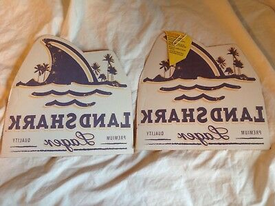 Land Shark Lager Beer Iron on transfer Lot of 2 with directions for T Shirt