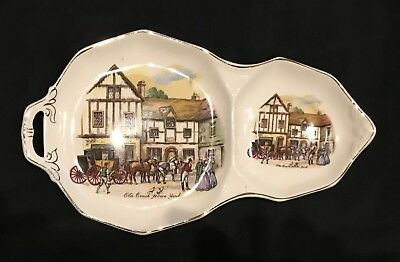 "Royal Tudor Ware Barker Brothers England Snack ""Old Coach House York"" Plate"