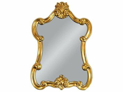 Wall Mirror Baroque Gold Oval Vintage Look Antique Rococo 90x60 Woe
