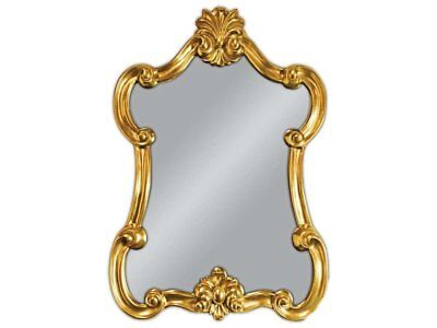 Wall Mirror Baroque Gold Oval Vintage Look Antique Rococo 113x80 Woe