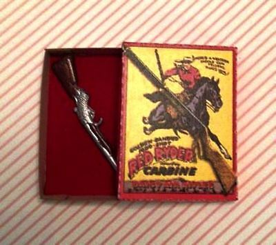 Dollhouse Miniature Red Ryder Toy Rifle and Box Kit - 1:12 Scale