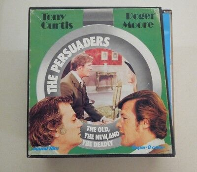 SUPER 8mm - SET OF 3 FILMS - THE PERSUADERS - THE OLD, THE NEW AND THE DEADLY