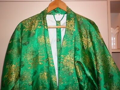 Vintage Japanese Brocade  Dressing Gown  Size L Excellent Condition