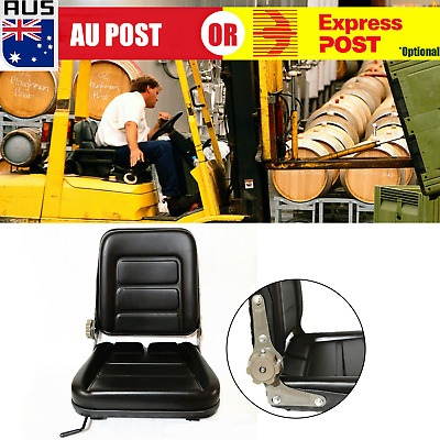 Adjustable LEATHER SEAT FOR TRACTOR, BOBCAT, FORKLIFT, MACHINERY CHAIR Durable