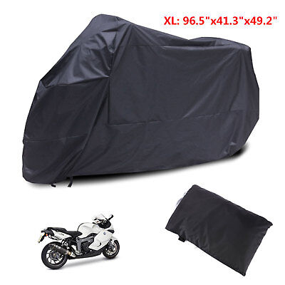 Universal XL 245x105x125 Waterproof Dust Motorbike Scooter Moped Cover Black AU