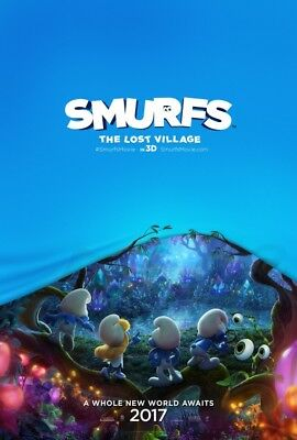 SMURFS: THE LOST VILLAGE great 27x40 original D/S movie poster (s01)