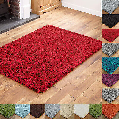 Small X Large Plain Shaggy Soft Rug Fluffy Modern Bedroom Floor Thick 5Cm Carpet