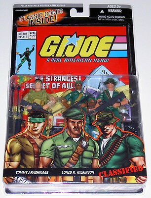 G.i.joe 2006 Snake Eyes, Stalker & Storm Shadow 3-Pack Mib Neu & Ovp Classified