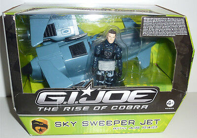 G.i.joe 2009 Rise Of Cobra Sky Sweeper Jet With Air Raid Neu & Ovp Gi Joe