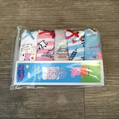 5 x Pairs Baby Girls Peppa Pig Knickers Briefs 18 - 24 Months (1.5 - 2 Years)