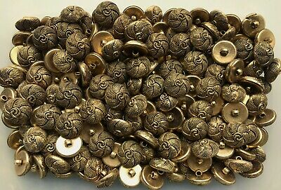 P51A 15mm 24L Aged Bronze Golden Brown Ribbed Cone Dome Rope Shank Buttons
