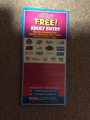 Kellogg's Adult Free Entry Thorpe Park Legoland Alton Towers Chessington