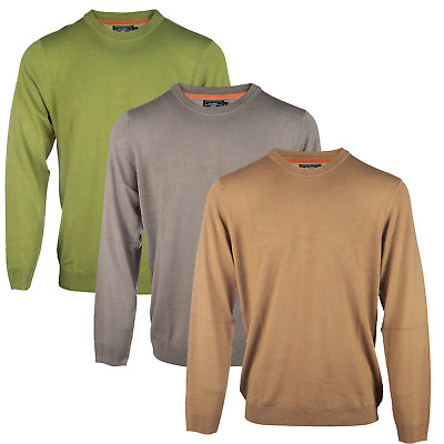 Ex BHS Men's Crew Neck Long Sleeved Pullover Jumpers Sweater