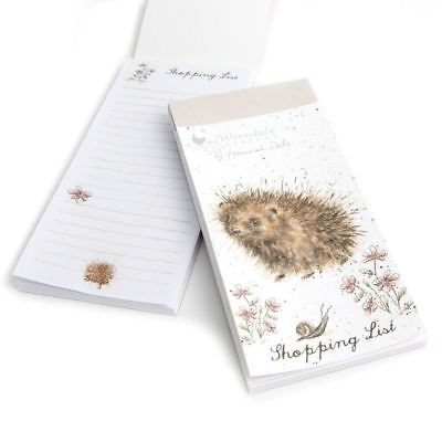 Wrendale Designs Hedgehog Magnetic Shopping List Notepad Memo Notes To Do List