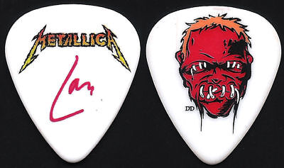 Metallica-Lars Ulrich-World Tour-Cartoon Face Guitar Pick-Rare
