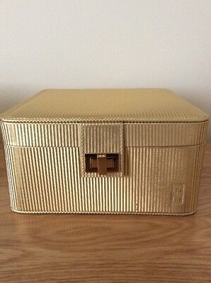 ELIZABETH ARDEN Ceramide Vanity Case/makeup Bag/ Toiletry Bag In Gold