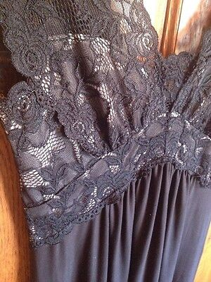 VTG Neiman Marcus Jonquil by Diane Samandi Full-Length Stretch/Lace Nightgown