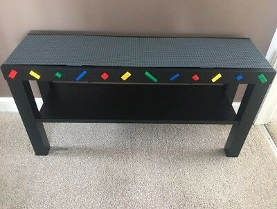 Building Brick Lego Compatible Baseplate Activity Play Table No Rail Play Room