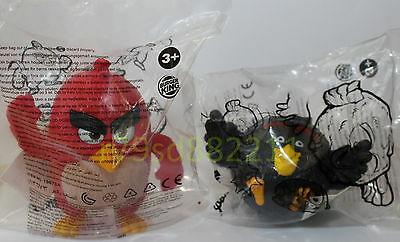 RED & BOMBE ANGRY BIRDS SPIELZEUG-FIGUREN, Burger King Box, NEU & OVP, RAR