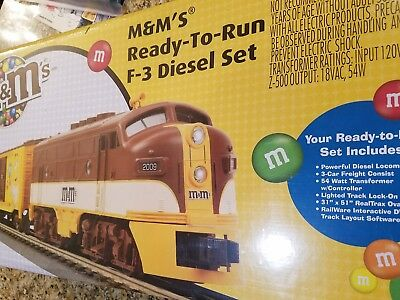 MTH 30-4190-0 M&M's F-3 DIESEL Ready To Run Train Set w/ Horn & Bell NEW SEALED