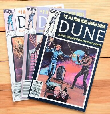 Dune: Complete 3-Issue Mini Series, Marvel Comics - High Grade!